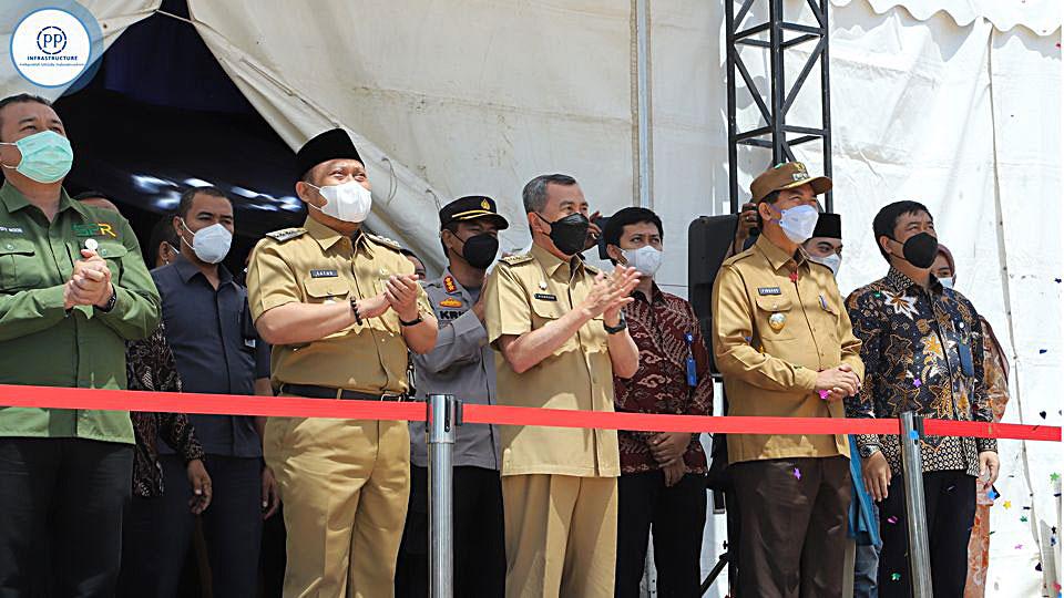 Pemancangan Pertama Sistem Penyediaan Air Minum (SPAM) Lintas Kota Pekanbaru dan Kabupatan Kampar